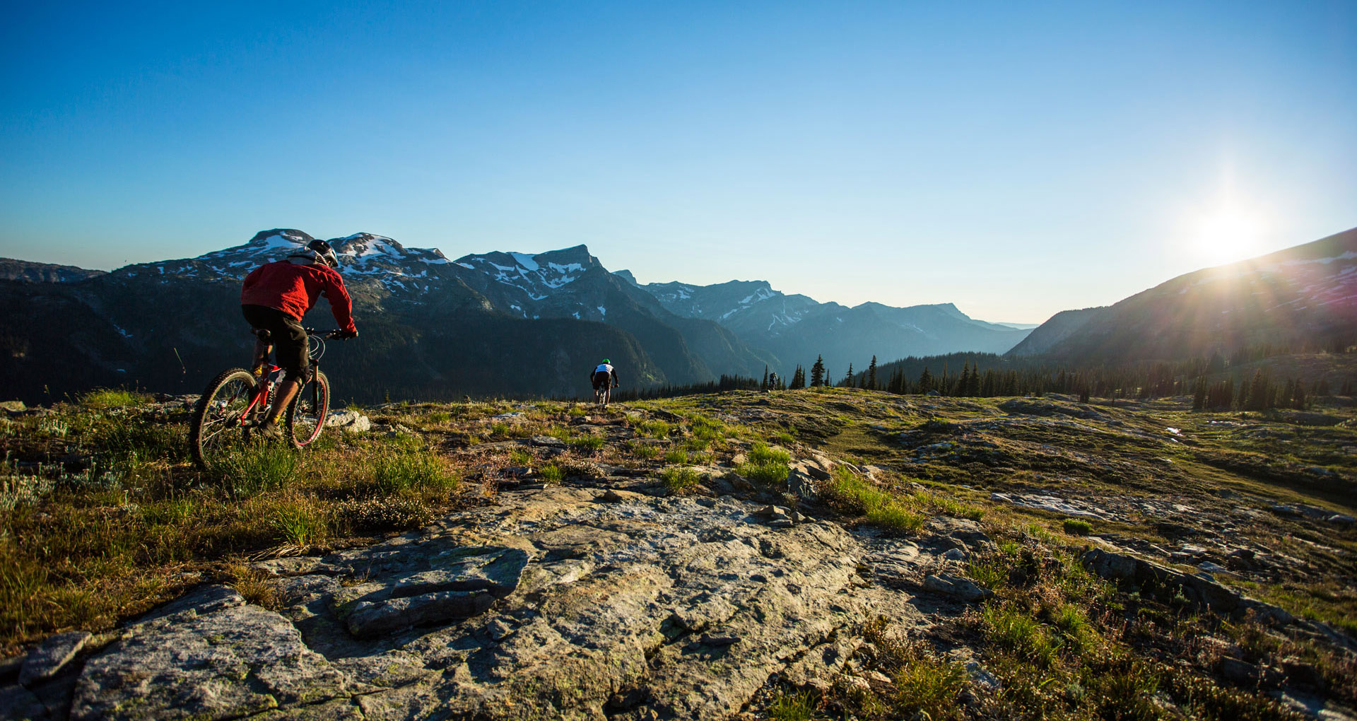 Alpine mountain biking in BC